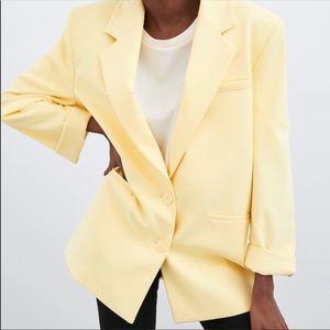 New with tags! Zara yellow blazer